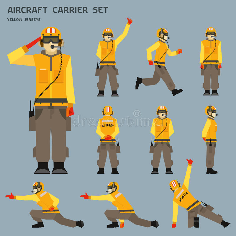 Atirador do porta-aviões ilustração royalty free