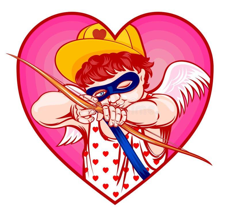 Atirador furtivo do Cupid ilustração royalty free
