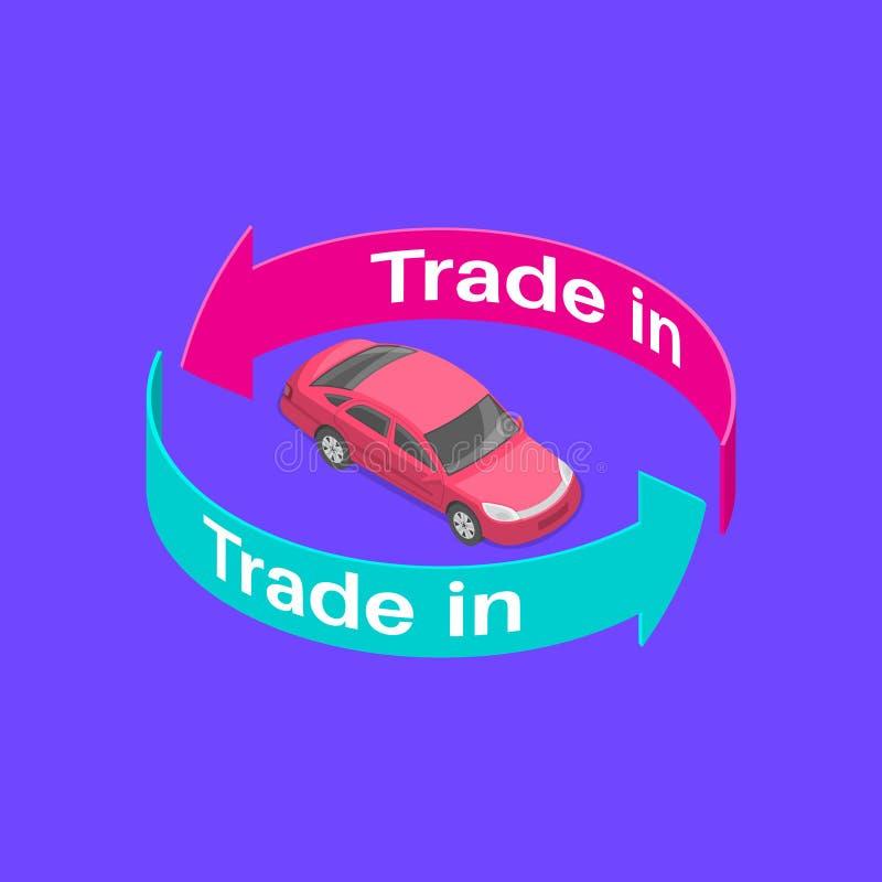 Atiradores da troca com o carro ilustração royalty free