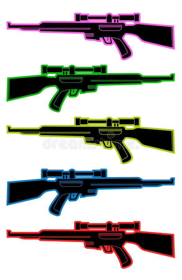 Atiradores furtivos da cor ilustração stock