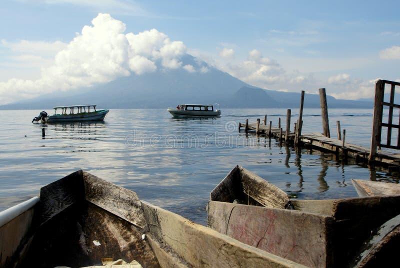 atitlan危地马拉湖 免版税库存图片