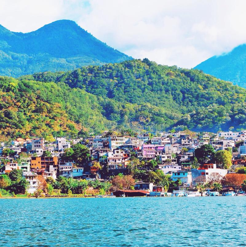 atitlan λίμνη της Γουατεμάλα στοκ φωτογραφία με δικαίωμα ελεύθερης χρήσης