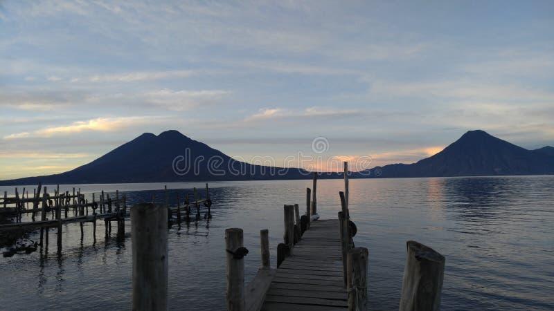atitlan jeziora zdjęcie royalty free