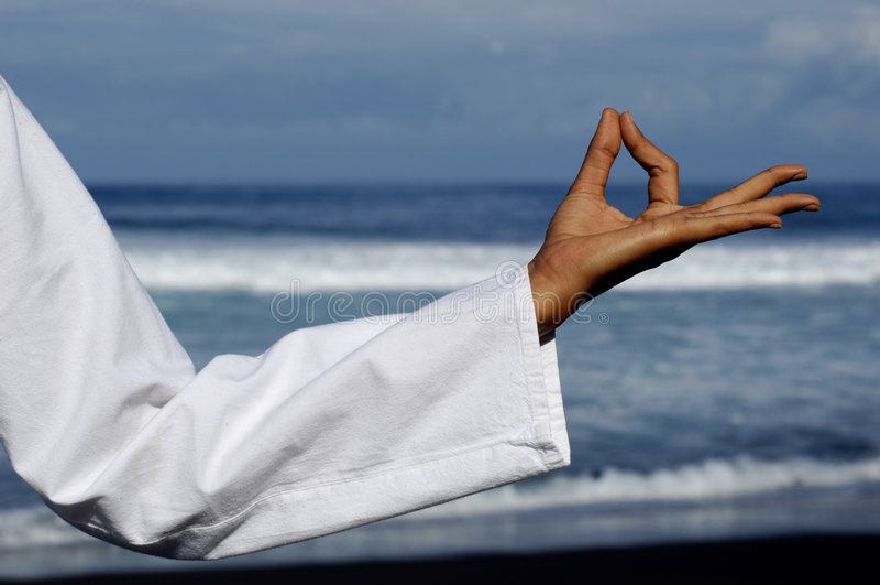 Atitude 4 do zen imagens de stock