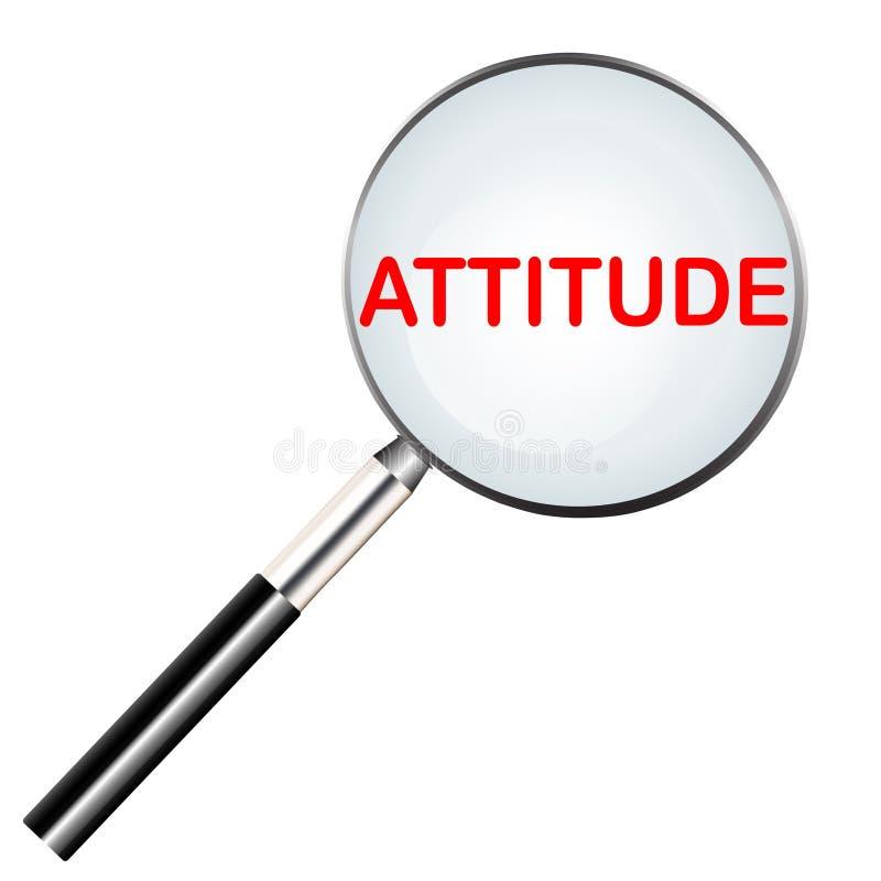 Atitude destacada no ícone da ferramenta da lente de aumento ilustração stock