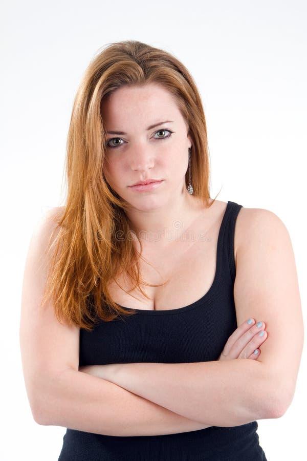 Atitude do mau da mulher fotos de stock royalty free