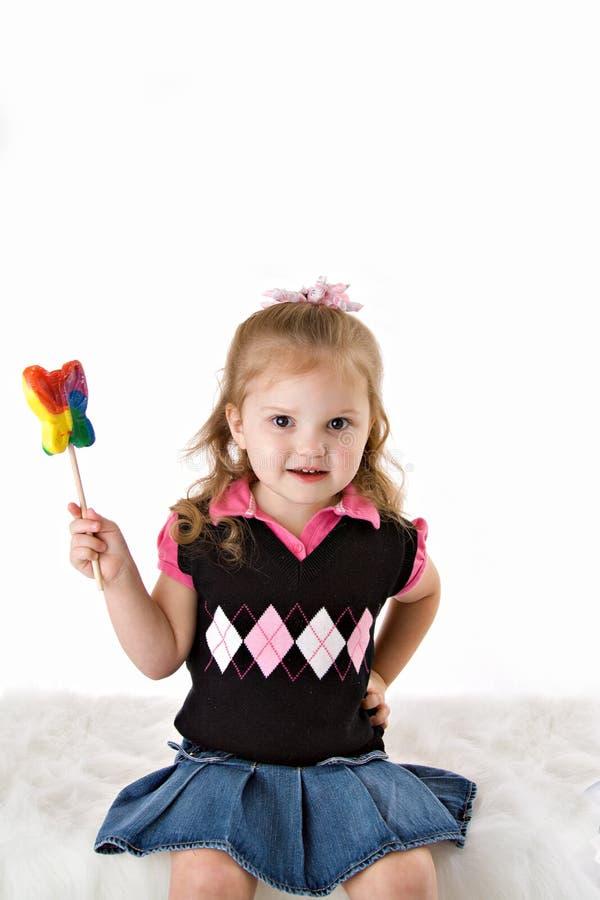 Atitude nova da menina da criança fotos de stock royalty free