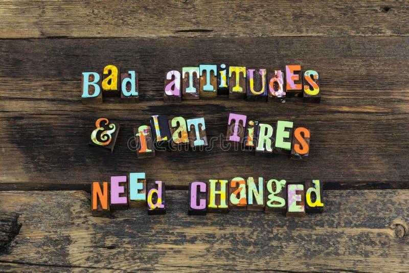 A atitude positiva acredita o tipo mau da tipografia do sucesso do otimismo imagem de stock royalty free