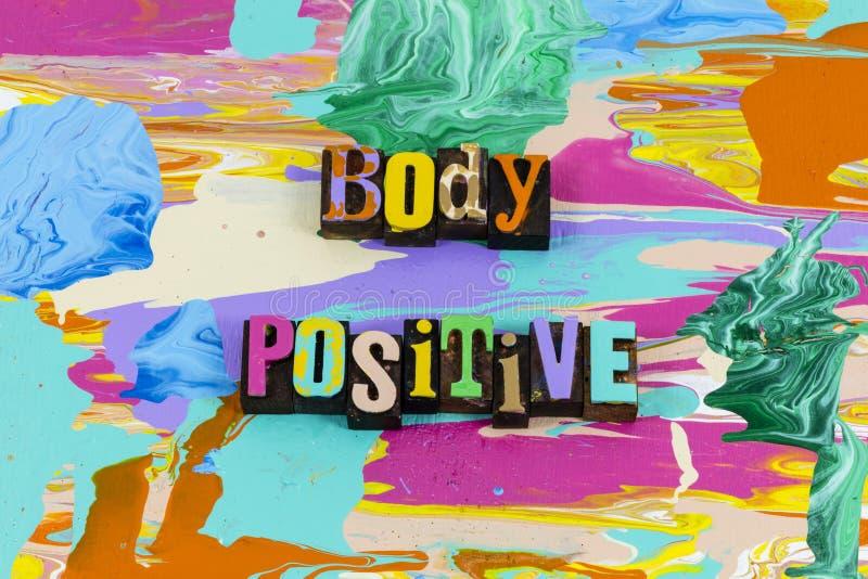 Atitude positiva corporal ama a si mesmo feminismo vida saudável fotos de stock royalty free