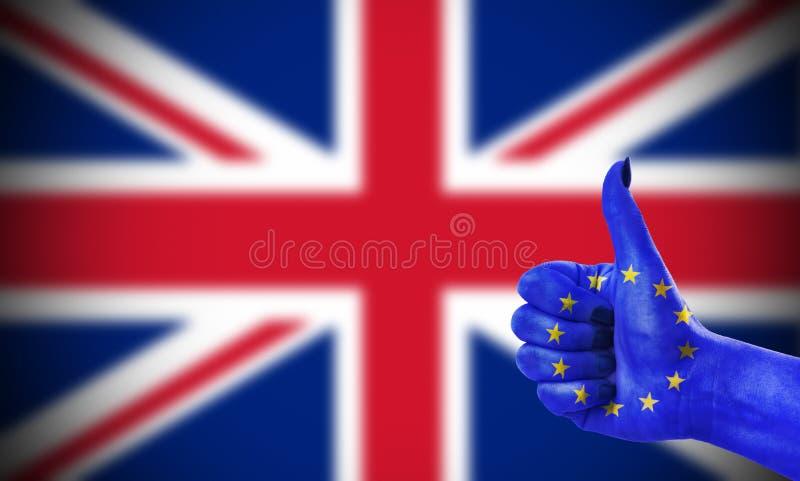 Atitude positiva da União Europeia para Reino Unido fotografia de stock