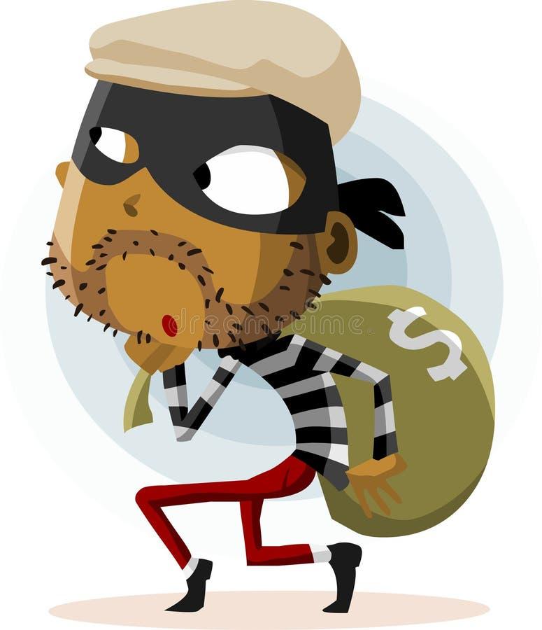 Atividade criminosa do ladrão ilustração stock