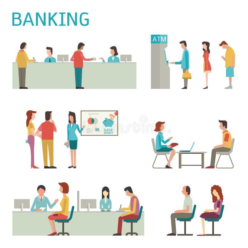 Atividade da operação bancária ilustração stock