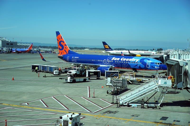 Atividade de aeroporto de Portland fotos de stock