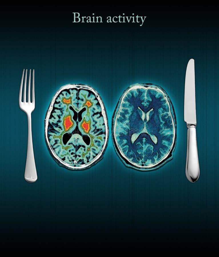 Atividade de cérebro ilustração royalty free