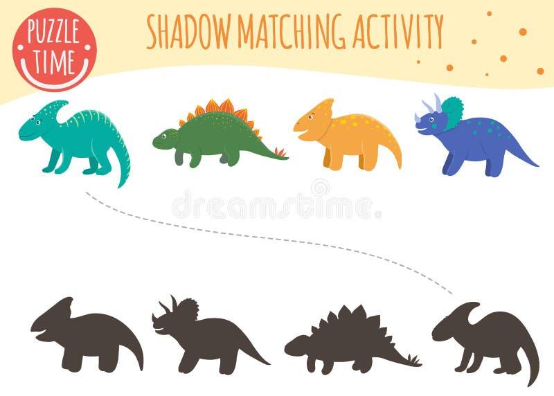 Atividade de harmonização da sombra para crianças ilustração stock