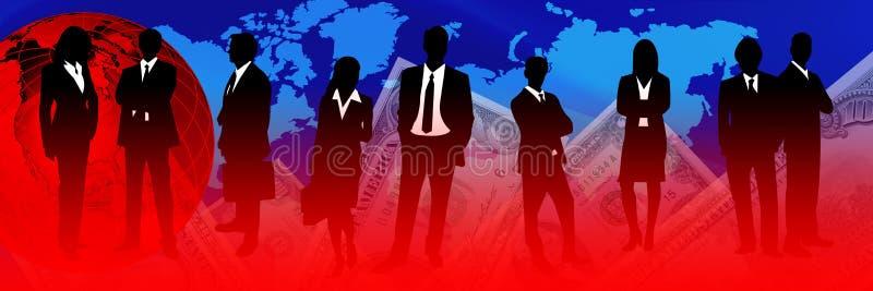 Atividade e crise financeiras ilustração royalty free