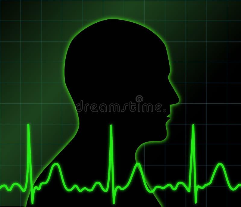 Atividade elétrica do ser humano ilustração do vetor