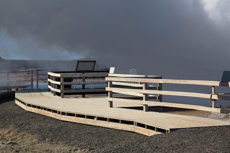 Atividade geotérmica em Islândia fotografia de stock