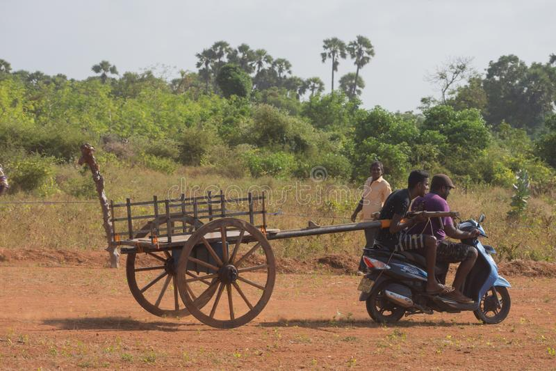 Atividade recreacional tradicional do esporte em Jaffna imagens de stock