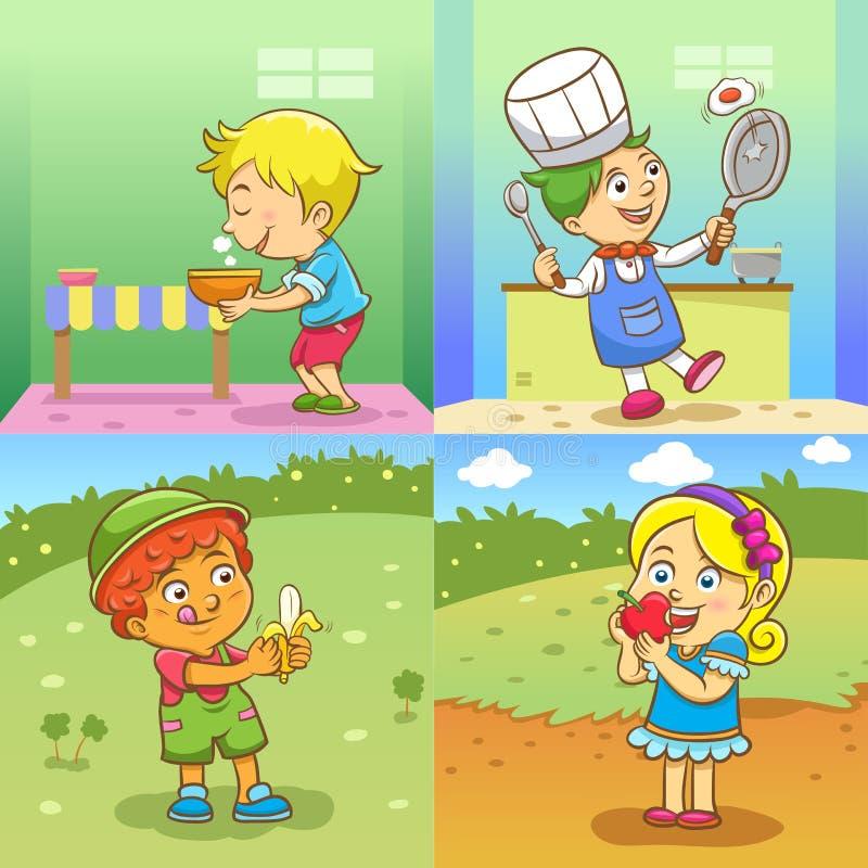 Atividades da criança ilustração stock