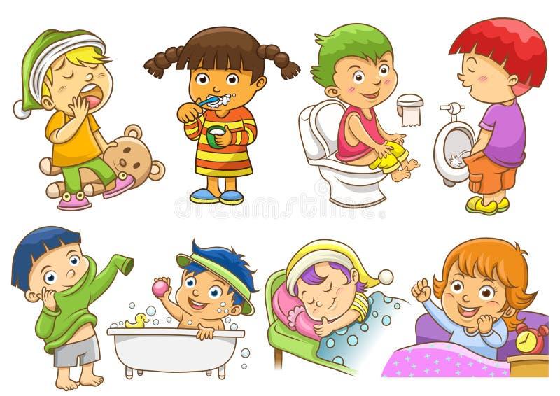 Atividades diárias ilustração stock