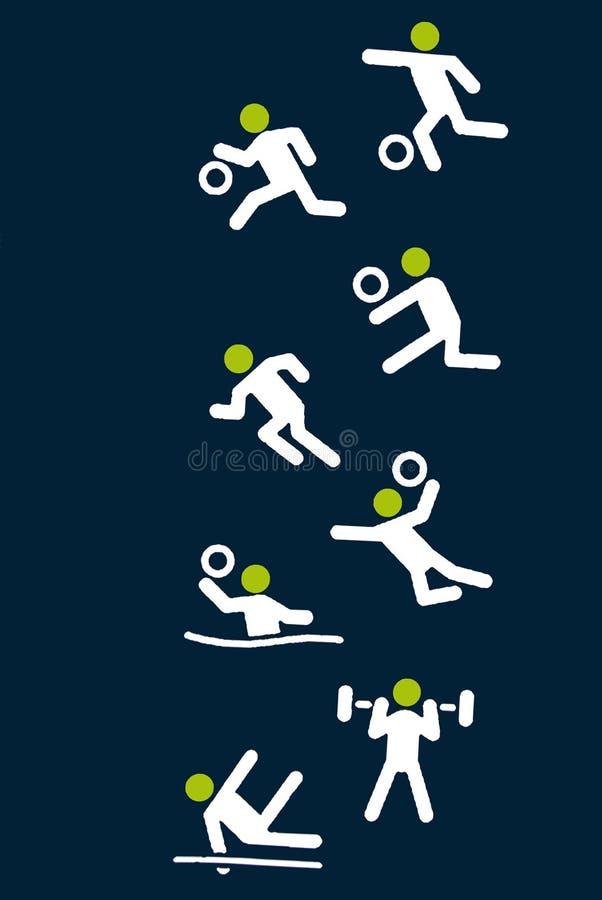 Atividades do Gym ou do ginásio athletics esporte Aptidão ilustração do vetor
