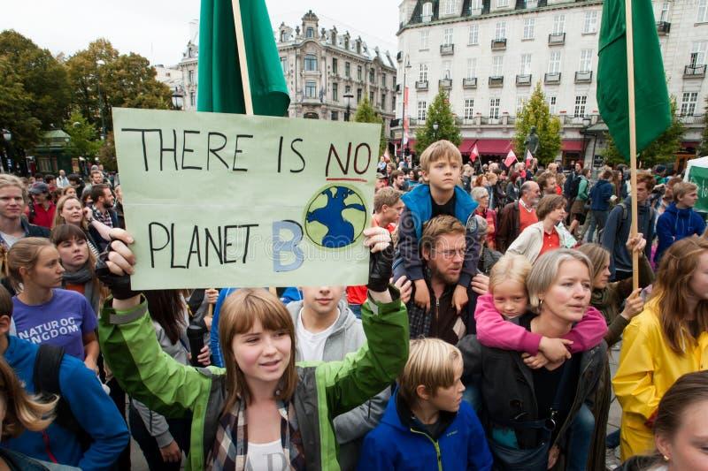 Ativistas ambientais imagem de stock