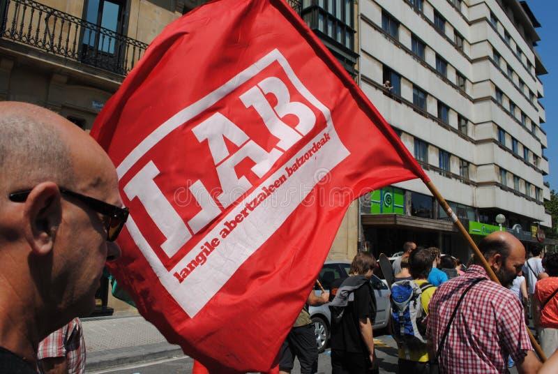 Ativistas Basque do sindicato foto de stock royalty free
