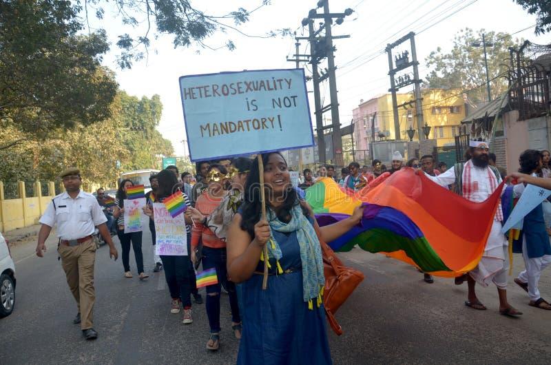 Ativistas e suportes de LGBT fotografia de stock