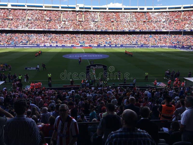 Atlético de Madrid ³ n de Estadio Vicente Calderà imagenes de archivo