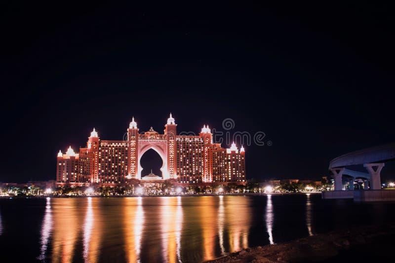 Atlanis hotel palmowy Dubai zdjęcia royalty free