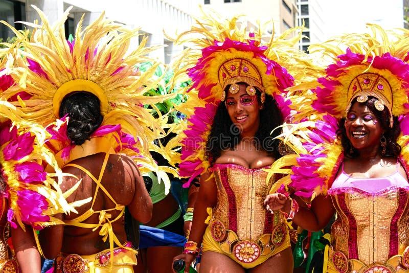 Atlanta Żółte i Różowe Karnawałowe dziewczyny 3 zdjęcia royalty free