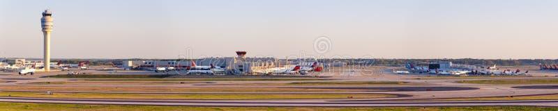 Atlanta Airport ATL Terminal Overview. Atlanta, Georgia – April 2, 2019: Overview of Atlanta Airport ATL in the United States stock image