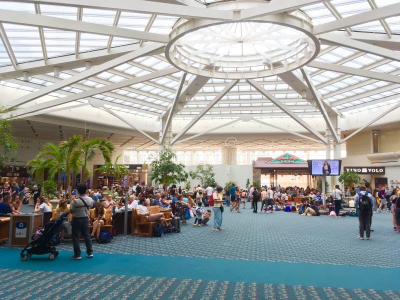 Atlanta airport. Passengers waiting at the Atlanta Airport, USA royalty free stock photography