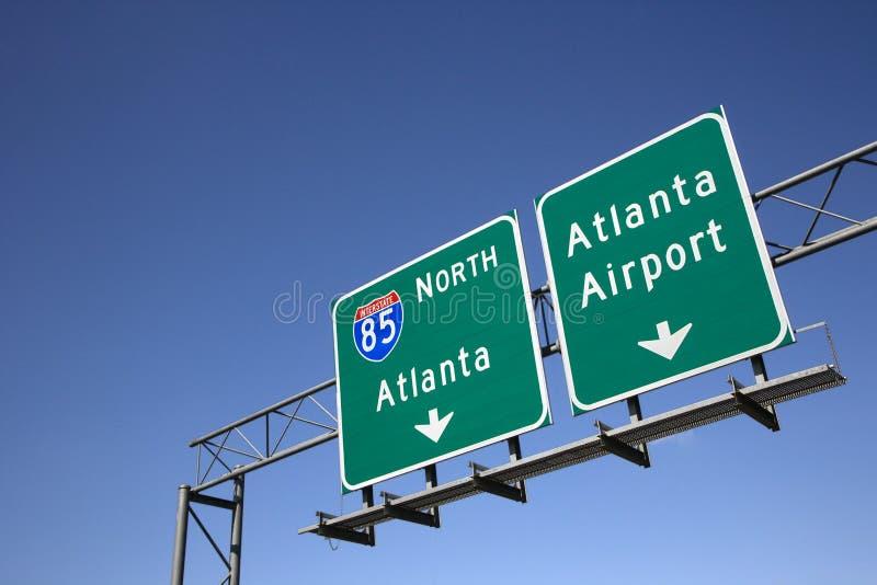 Atlanta-Autobahn-Zeichen lizenzfreie stockfotos