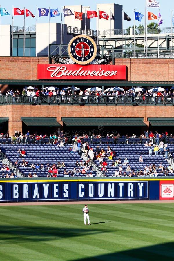 atlanta baseballa pola pola zewnętrzn zataczarz zdjęcia royalty free