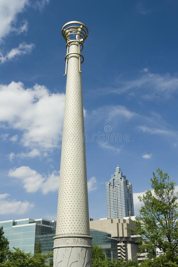 Download Atlanta Bicentennial Park stock image. Image of urban - 9509513
