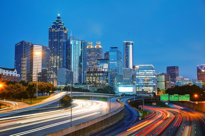 Atlanta céntrica, Georgia fotos de archivo libres de regalías