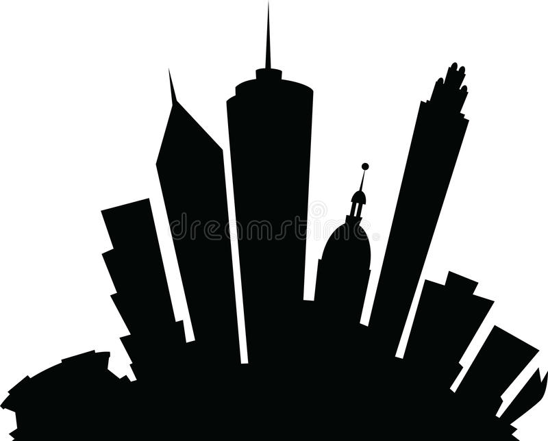 Atlanta Georgia Skyline City Silhouette - Can Stock Photo