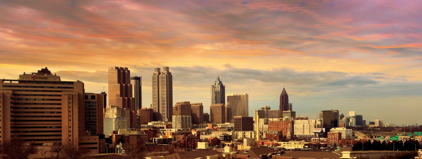 Atlanta city skyline stock image