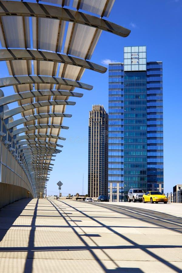 atlanta cityscapegeorgia skyskrapor arkivfoto