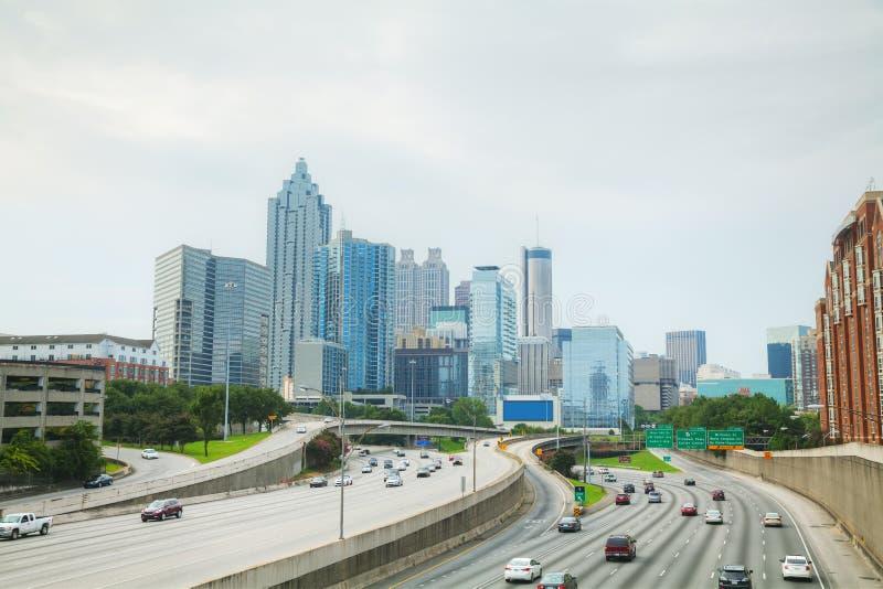 Atlanta da baixa, Geórgia fotografia de stock