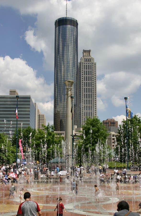 Atlanta de stad in stock afbeeldingen