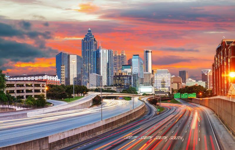 Atlanta del centro, Georgia fotografie stock libere da diritti