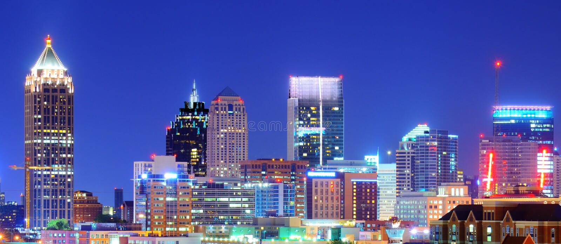 Atlanta du centre images stock