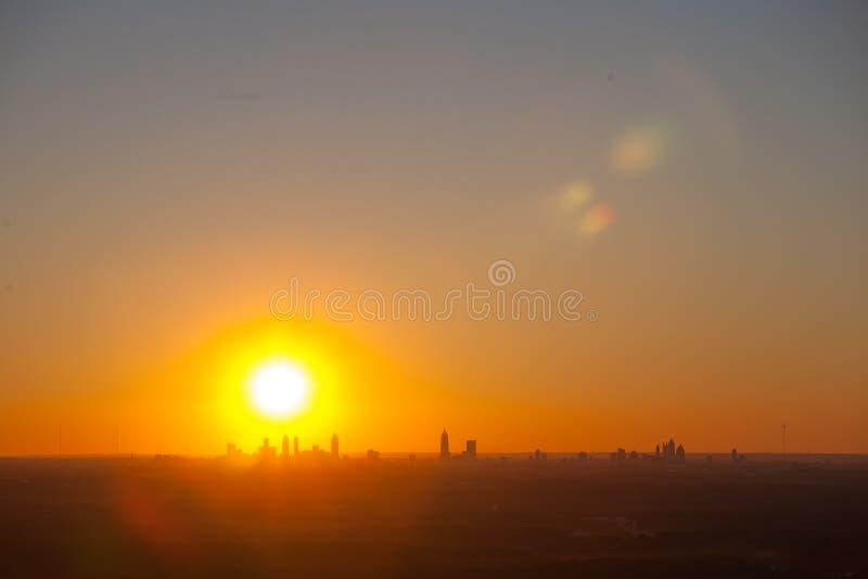 Atlanta du centre au crépuscule images libres de droits