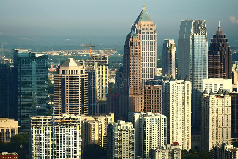Atlanta from the east royalty free stock image