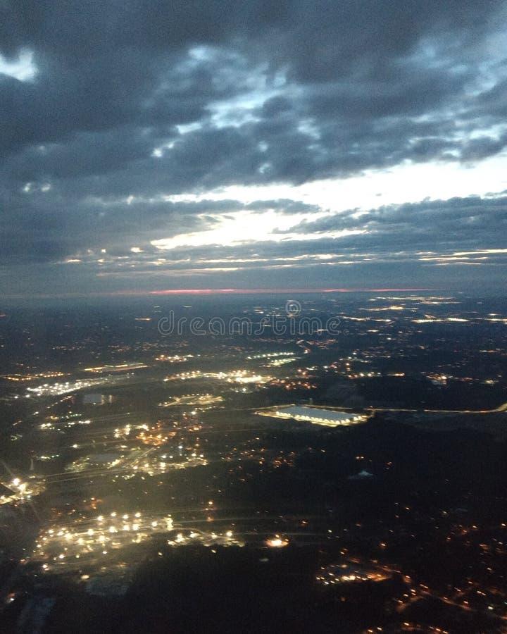 Atlanta en el amanecer fotografía de archivo