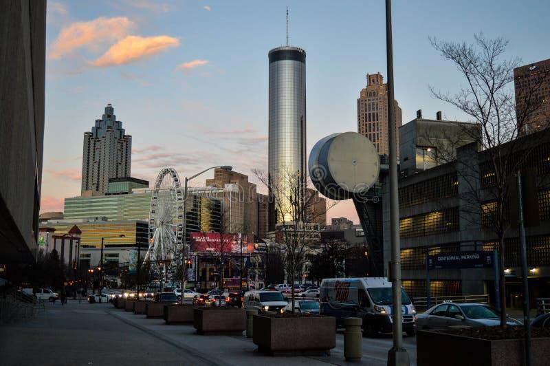 Atlanta en la puesta del sol fotografía de archivo libre de regalías