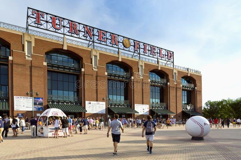 Atlanta för drejarebaseballfält indiankrigare royaltyfria bilder